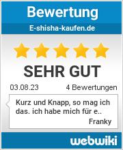 Bewertungen zu e-shisha-kaufen.de
