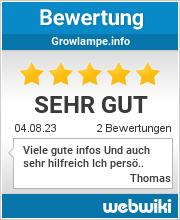 Bewertungen zu growlampe.info