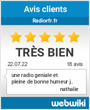 Avis clients de radiorfr.fr
