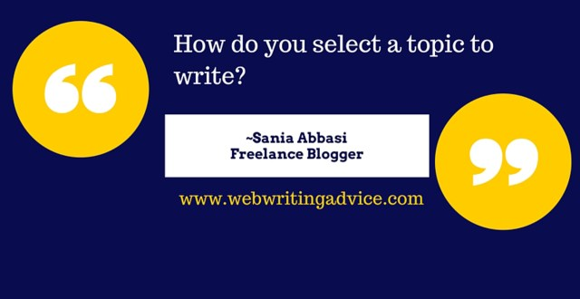 Q&A: How Do You Select a Topic to Write?