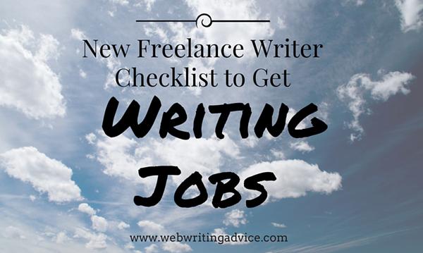 New Freelance Writer Checklist #webwritingadvice