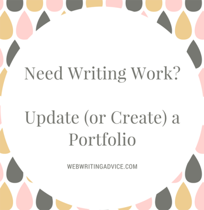 Need Writing Work? Update (or Create) a Portfolio