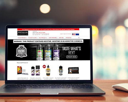 vaping website design