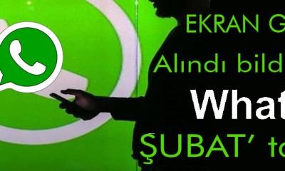 whatsapp ekran görüntüsü alındı bildirimi