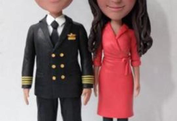 Custom Wedding Cake Topper Pilot And Flight Attendant 1010