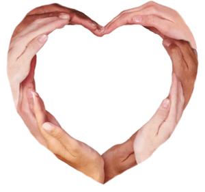 We Choose Love Hands Heart