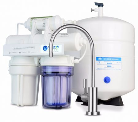 weco tiny 50 compact undersink reverse osmosis water filtration system