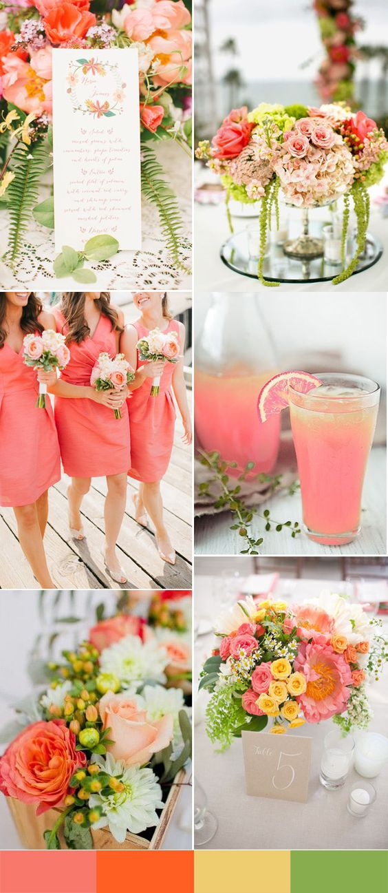 colour themed wedding