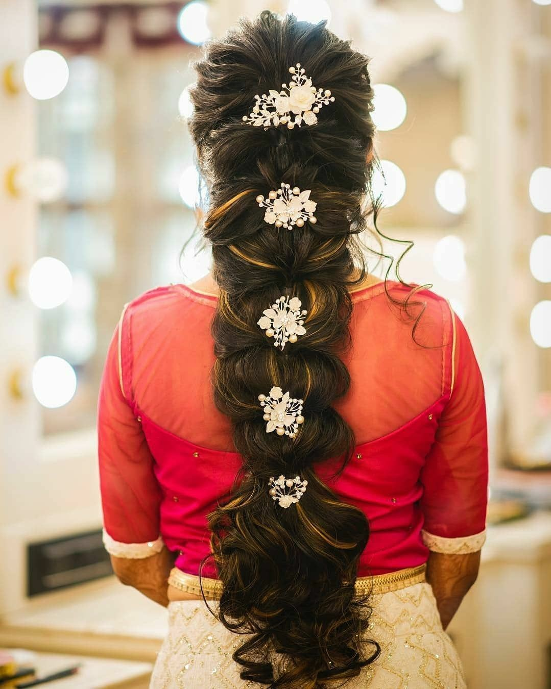 Beautiful braid with accessories