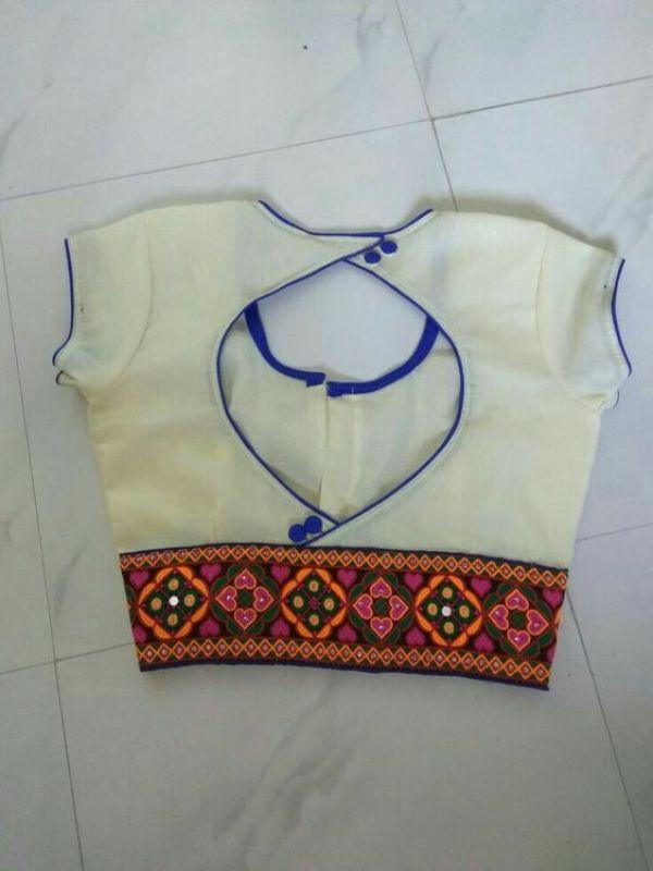 22.White Simple Designer Blouse