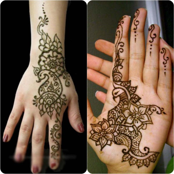 51.Simple Peacock Mehndi Design for Beginners