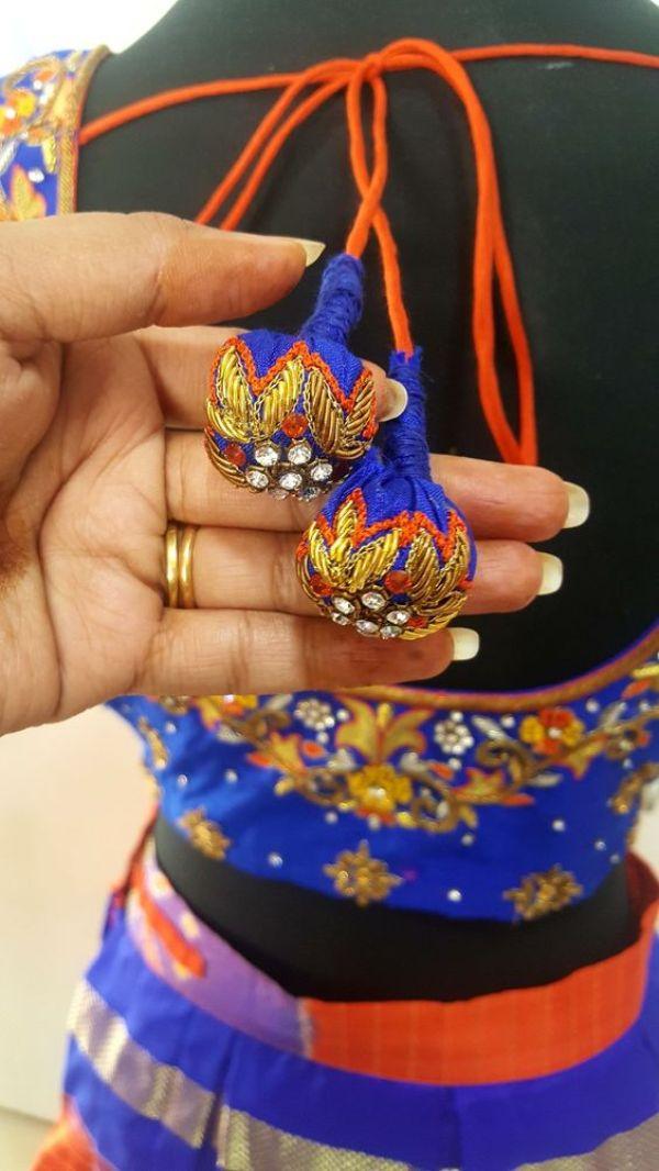 1.Silk Blue ball Tassels