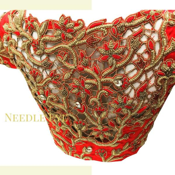 20.Gorgeous Cut Work Bridal blouse