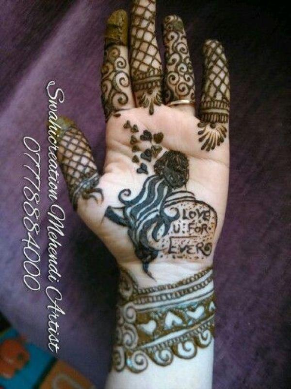 2.Love you forever mehndi design