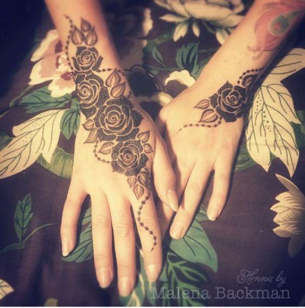 1.Rose Mehndi design #1