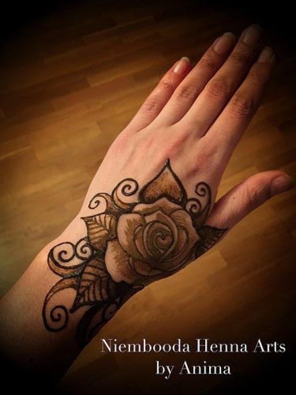 18.Rose Mehndi design #18