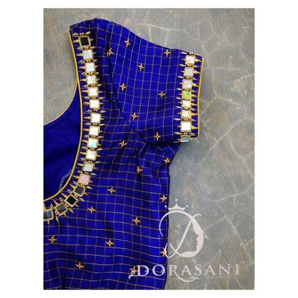 3.Check blouse design #3
