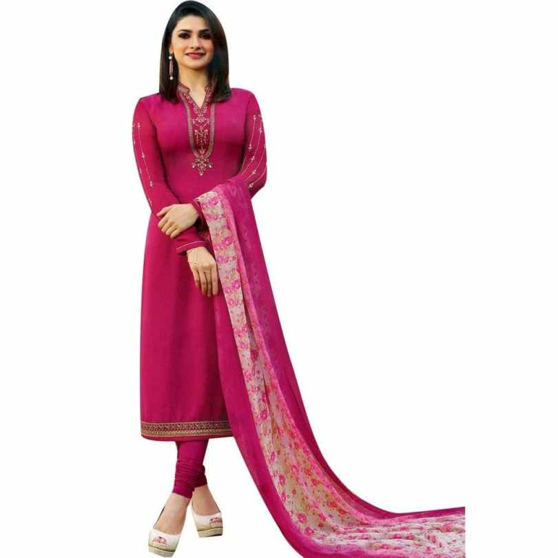 Crepe fabrics Salwar Suits dress