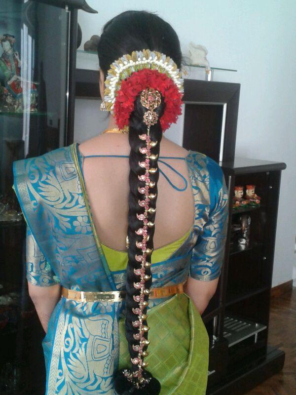 Bridal Poo Jadai Hair Style Poo Jadai Hair Style Photo