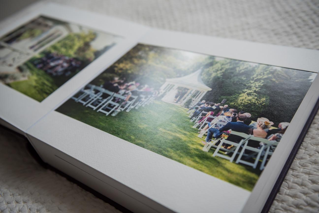 Album spread for Queensberry Duo wedding album