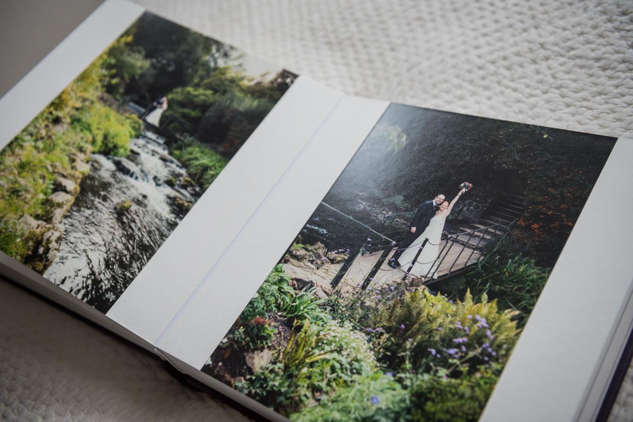 Edge to edge print in Queensberry Duo album