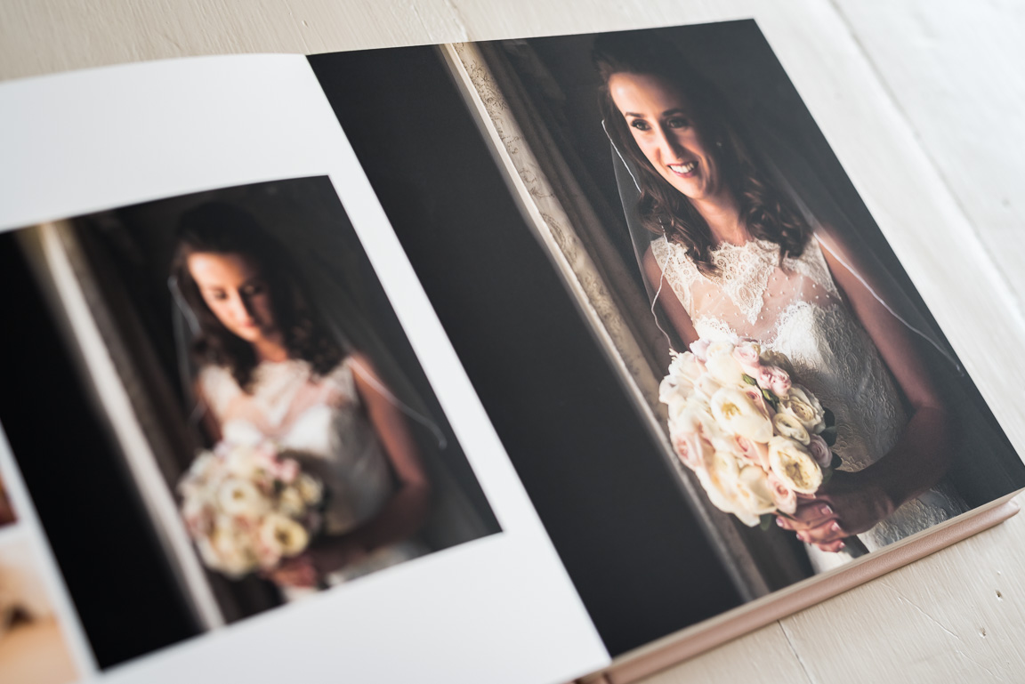 colour bridal portraits in Folio Fine Art album