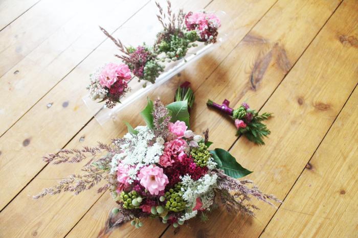 wildblumen, hochzeit, dekoration