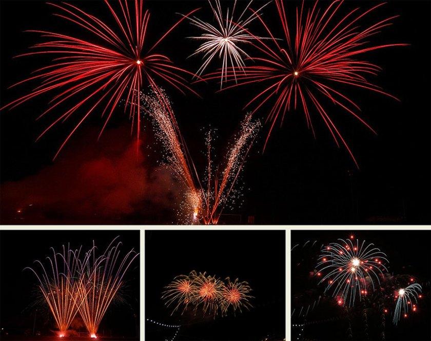 Verbundfeuerwerk, Feuerwerk