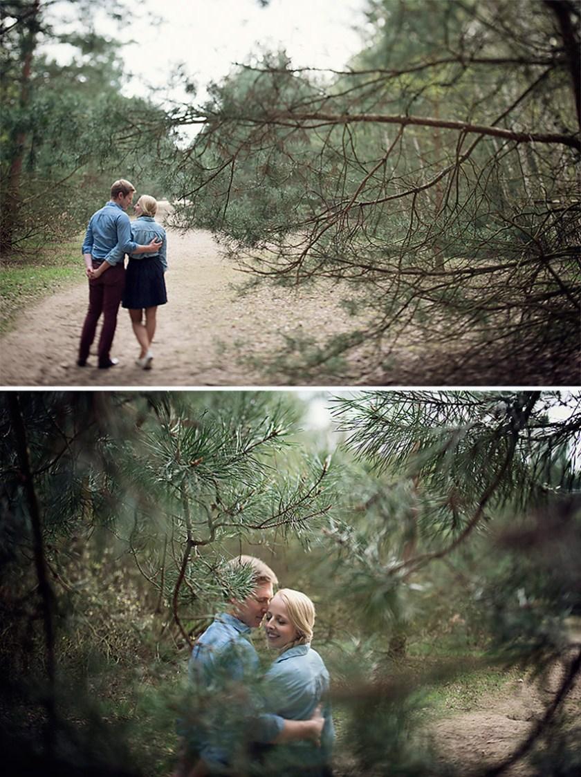 Ganz in Weise, Verlobungsshoot, Pärchenbilder, Spaziergang im Wald