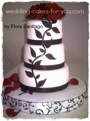 Black and White Wedding Cakes Gallery red and black wedding cake