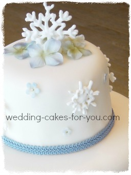 Cake Decorating Frosting And A Royal Icing Recipe royal icing snowflakes on a wedding cake top