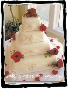 Square Wedding Cakes Are Like Pretty Packages square fondant wedding cake
