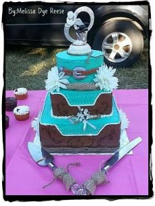 Wedding Cakes Pictures And Cake Decorating Ideas From Craftspeople     Western Wedding Cake by Melissa