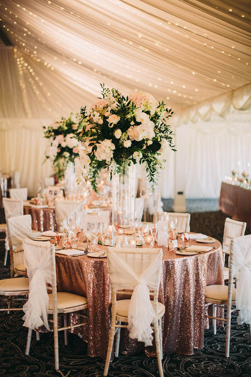 wedding ideas by colour rose gold wedding theme saying i do
