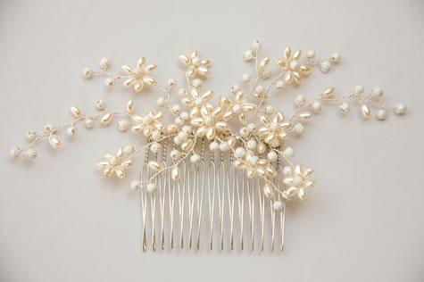 canadian tiaras jewellery combs pearl swarovski crystal hair comb es2055