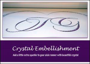 crystal wedding aisle runner