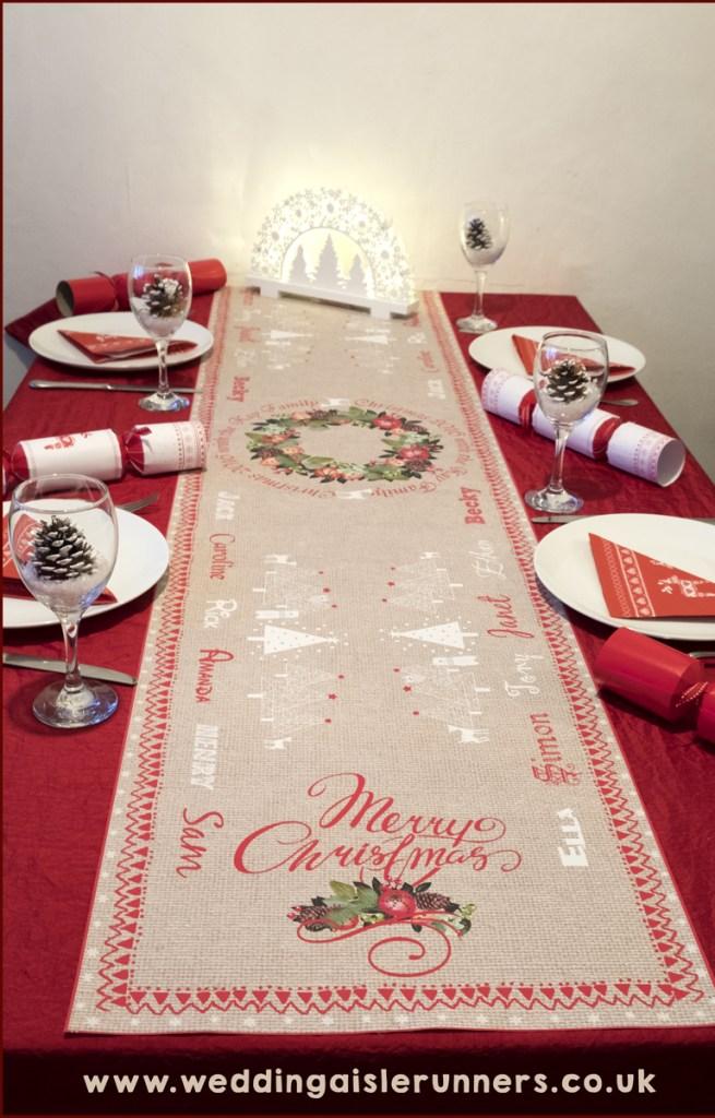 design-9 personalised christmas table runner