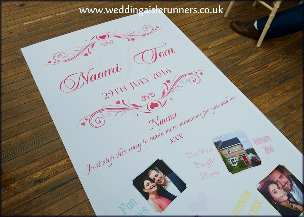 lovestory timeline wedding aisle runner