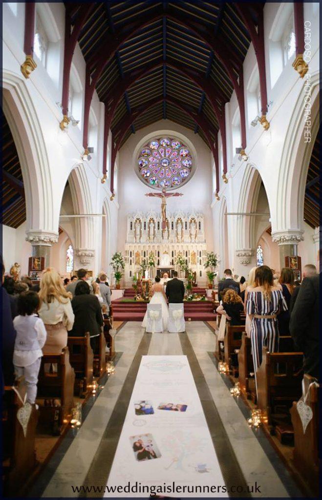 Kate & George Lovestory Timeline wedding aisle runner