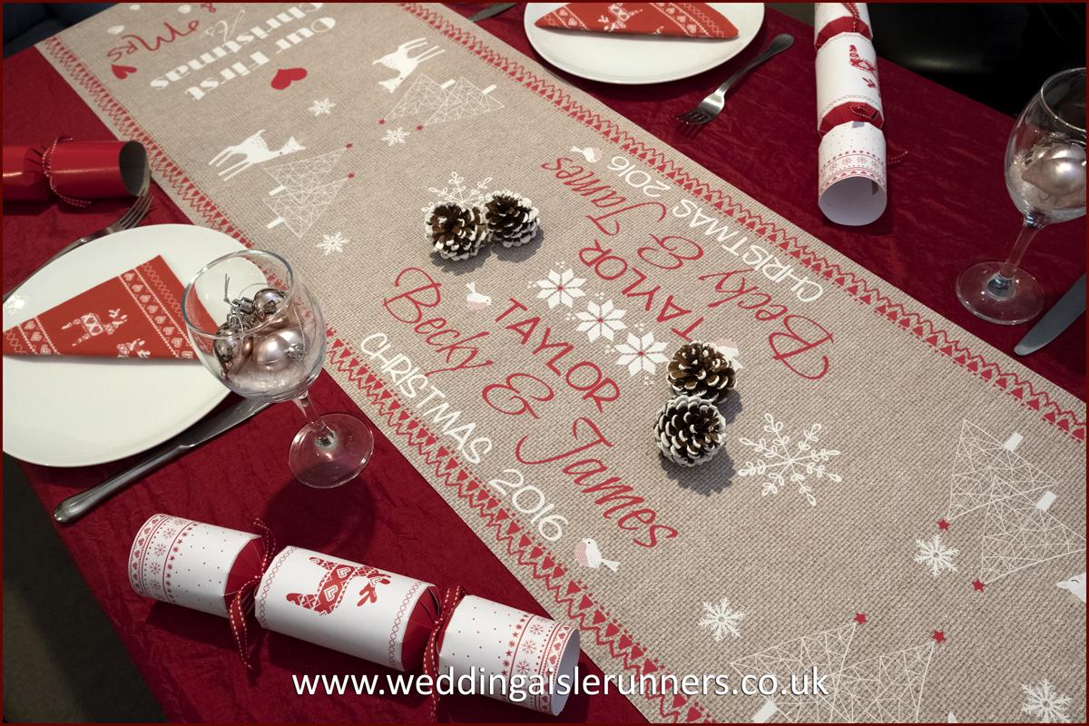 Design-7 Mr & Mrs Christmas Table Runner