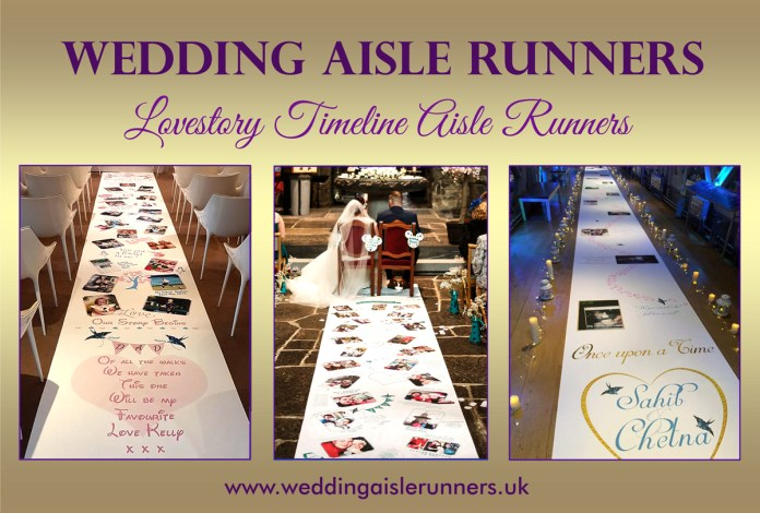 Lovestory wedding aisle runners by weddingaislerunners.uk