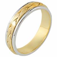 121171 14K Hand Made Gold Diamond Wedding Ring