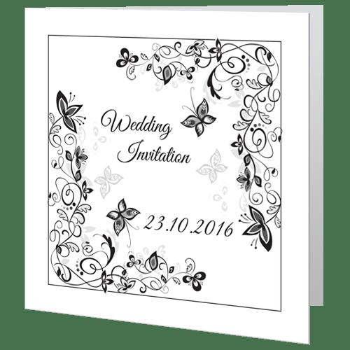 wedding day invite flower black white wedding cards direct
