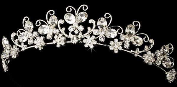 Butterfly bridal tiara