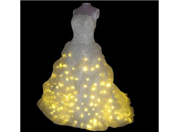 LED lights Wedding Gown