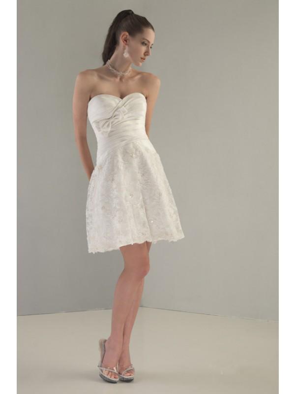 Taffeta Mini Wedding Dress by Venus Bridals
