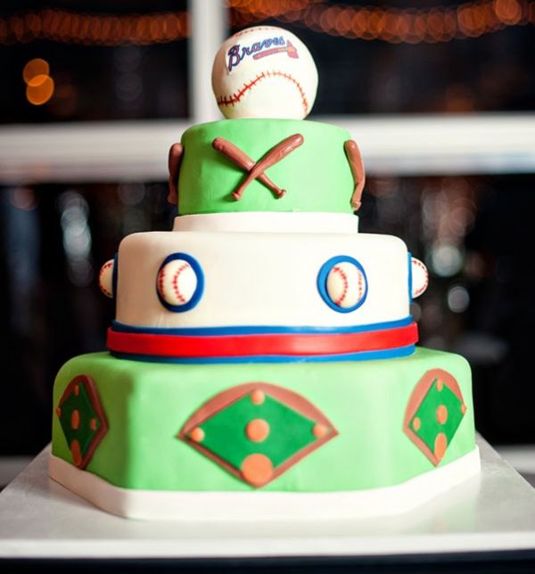 Sports themed groom's cake
