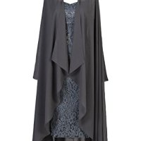 Ellames Two Pieces Tea Length Mother Of The Bride Lace Dresses With Jacket on sale