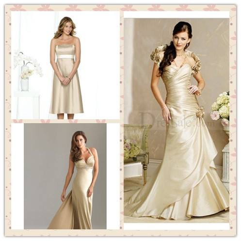 golden wedding dresses