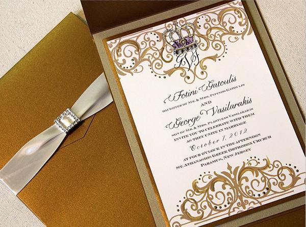 Online Software Template Blank Wedding Invitation 7x5 In Horizontal